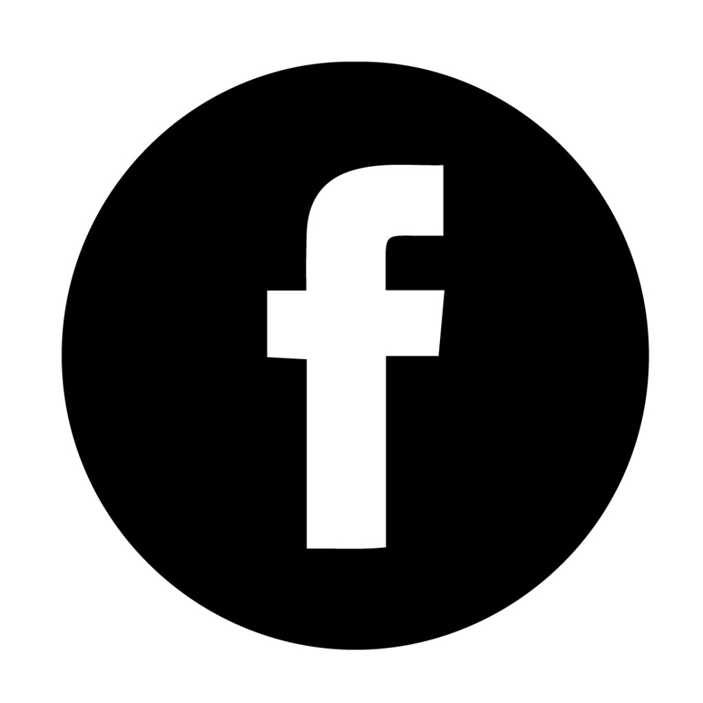 facebook logo black and white png 4